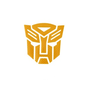 Image 3 - 3d Reflective  Warning Car Sticker Transformers For Car Auto logo Window Tail Car Body Decoration Car Styling