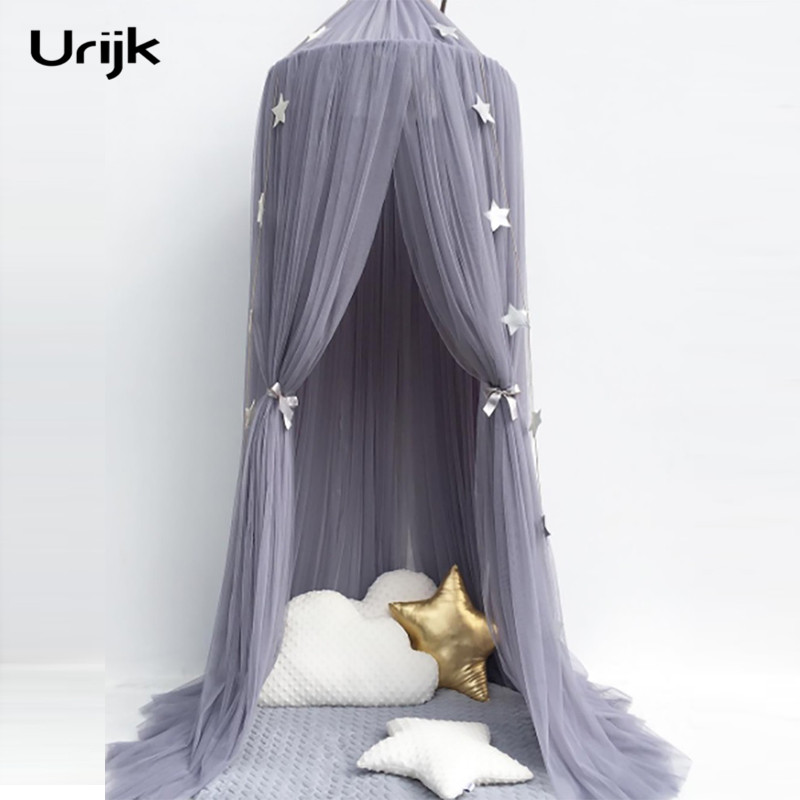 Urijk Baby Girls Princess Bed Mosquito Net For Infant Baby Bed Accessories Set Children Room Decoration Tent Photography Props