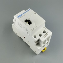 Contator modular da c.a. do agregado familiar do trilho do ruído de toct1 2 p 63a 220 v/230 v 50/60 hz com interruptor de controle manual 2no ou 1no 1nc ou 2nc