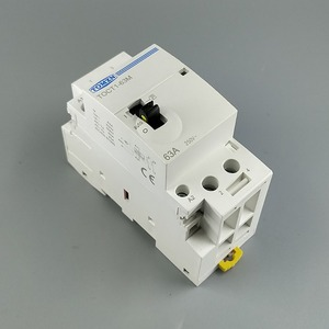 Image 1 - TOCT1 2P 63A 220V/230V 50/60HZ Din rail Household ac Modular contactor with Manual Control Switch 2NO or 1NO 1NC or 2NC