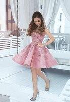 Персик 2019 Homecoming платья A Line v образным вырезом вышитое Блестящим Бисером Элегантные Короткие коктейльные платья