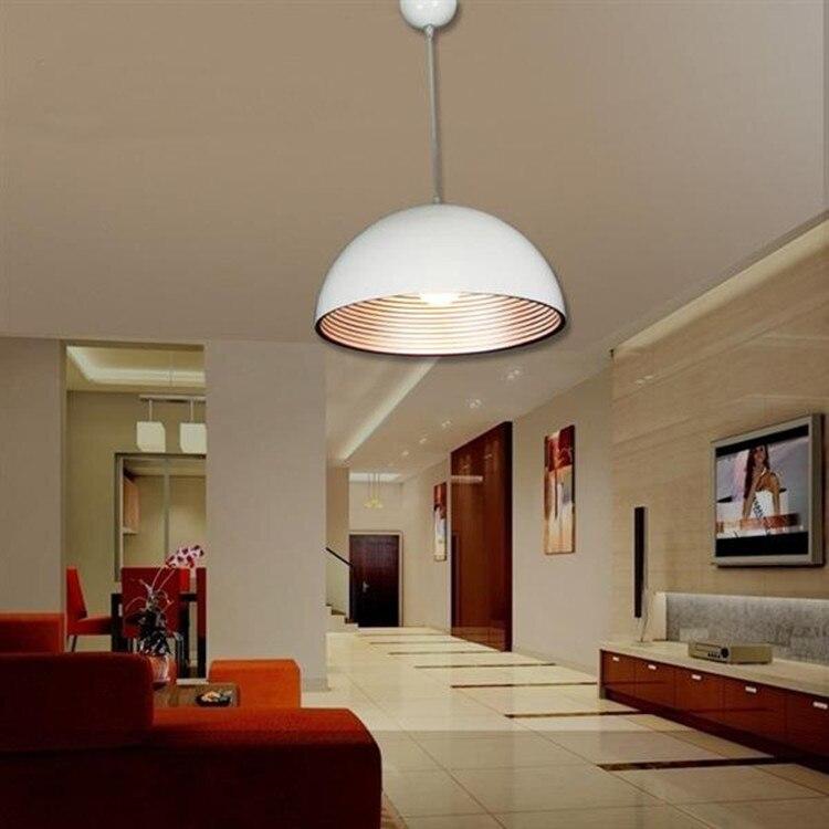Modern Lamp Minimalist Restaurant Office Den Living Room Pendant Lights Semicircular Metal Single Thread Lighting