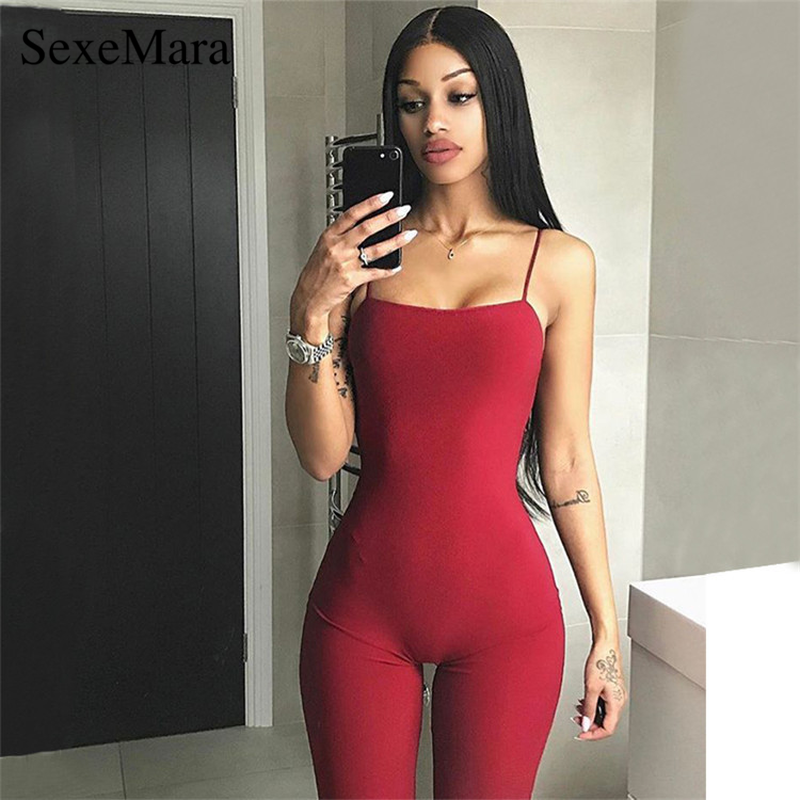 ANJAMANOR Black Sexy One Piece Bodycon   Jumpsuit   Biker Shorts Bandage Romper Women Streetwear Overalls Club Wear D53-AZ48
