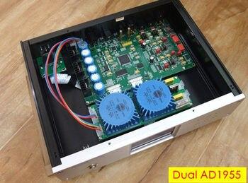 2018 New HiFi Dual AD1955 Fully Balanced DAC Hi-Fi Audio Decoder D/A Converter DSD DOP / FPGA Desktop Mini Amplifier