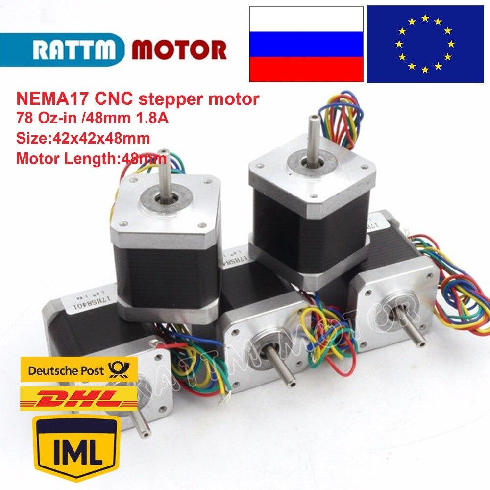 17hs8401 datasheet - 5pcs 2 Phase Nema17 stepper motor 48mm 1.8A 78 Oz-in  for CNC 3D print