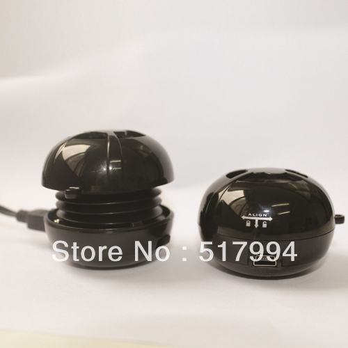 shinning black high end mini hamburger portable speaker for computer iPhone smartphone etc. free shipping