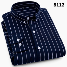 Men Striped Shirts Casual Long Sleeved Mens Shirt