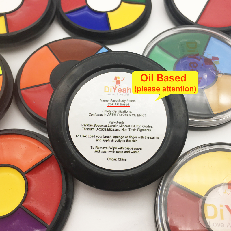 DiYeah Oil Painting Face Body Paint Өлім Доңғалақты - Макияж - фото 4