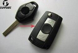 Zmodyfikowany 3 przyciski składany kluczyk flip puste miejsca dla BMW 3 5 7 serii Z3 Z4 E38 E39 E46 pilot zdalnego remont pokrywa przypadku