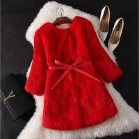 Luxury Faux Fur Jacket Women's 2018 Winter Jacket Oversized Furry Fluffy Fake Red Black Blue Gray Fur Coat XL XXL XXXL LF753