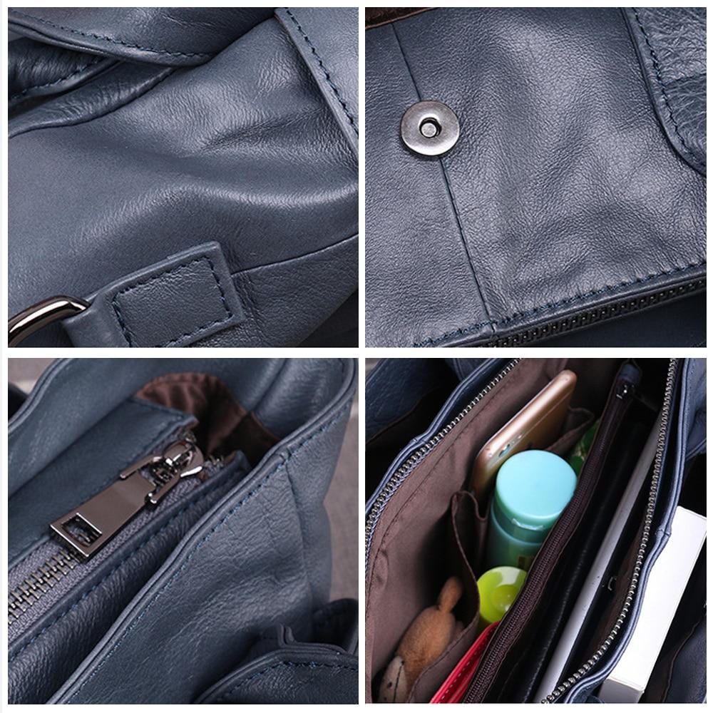 Vrouwen eerste laag van lederen handtassen Casual schoudertas - Handtassen - Foto 3