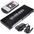 New HDMI 4x2 Matrix Switcher Stereo Audio Separation Fiber SPDIF 3.5 4 In 2 Out Free Shipping with Track Number 12002975