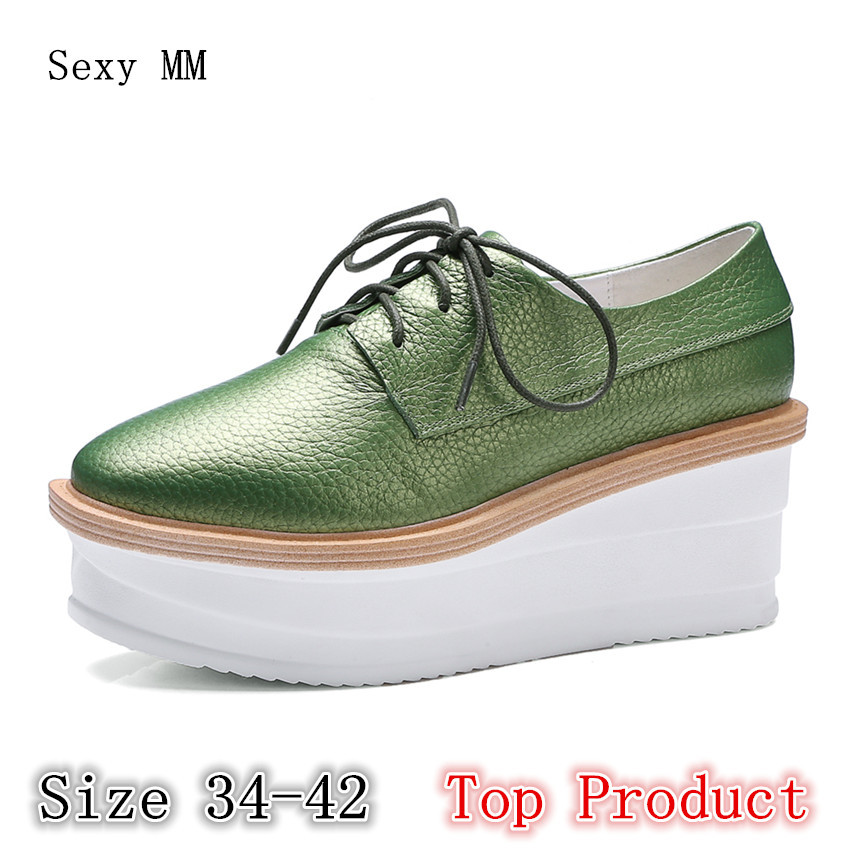 Genuine Leather Flats Women Loafers Woman Shoes Casual Skate Walking Flat Platform Shoes Top Product Size 34 - 40 41 42 stripe loafers casual women canvas shoes platform mother flat shoes woman comfortable slip on flats size 35 40 xwd4442