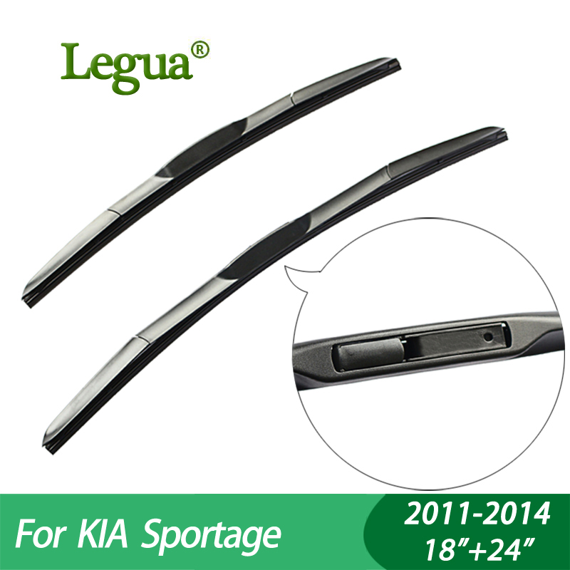 "Legua Wiper blades For KIA Sportage (2011-2014), 18""+24"",car wiper,3 Section Rubber, windscreen wiper, Car accessory"