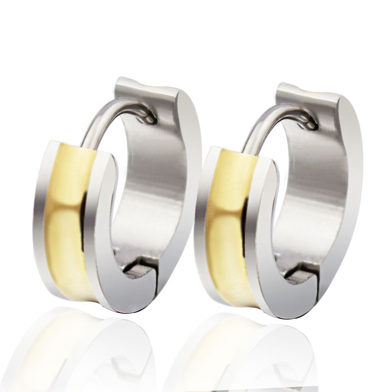 2018 Por Hip Hop Bling Stud Stainless Steel Earring Brand Geometric Gold Color Earrings Men Dress Free Shipping In From Jewelry