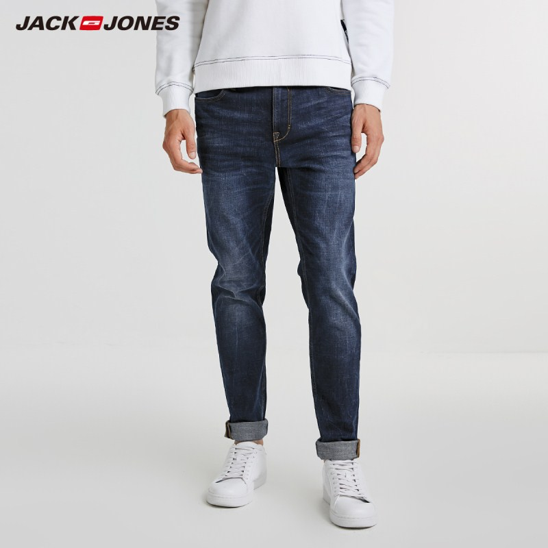 JackJones Men's Stretch Cotton Casual   Jeans   Men's Fashion   Jeans   Business Casual Stretch Slim   Jeans   J|218332549
