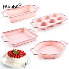 FILBAKE Silicone Cake Pan Pack Hardware Bakeware Mold 6 Evening Dessert Baking Utensils Accessories