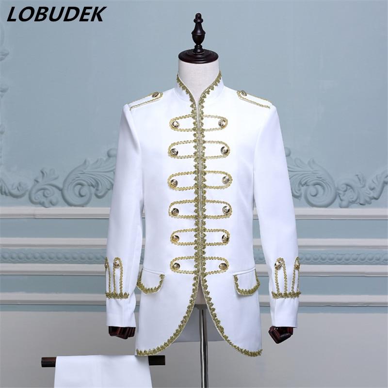 (jakna + hlače) plavo crno bijelo odijelo muška plesačica - Muška odjeća