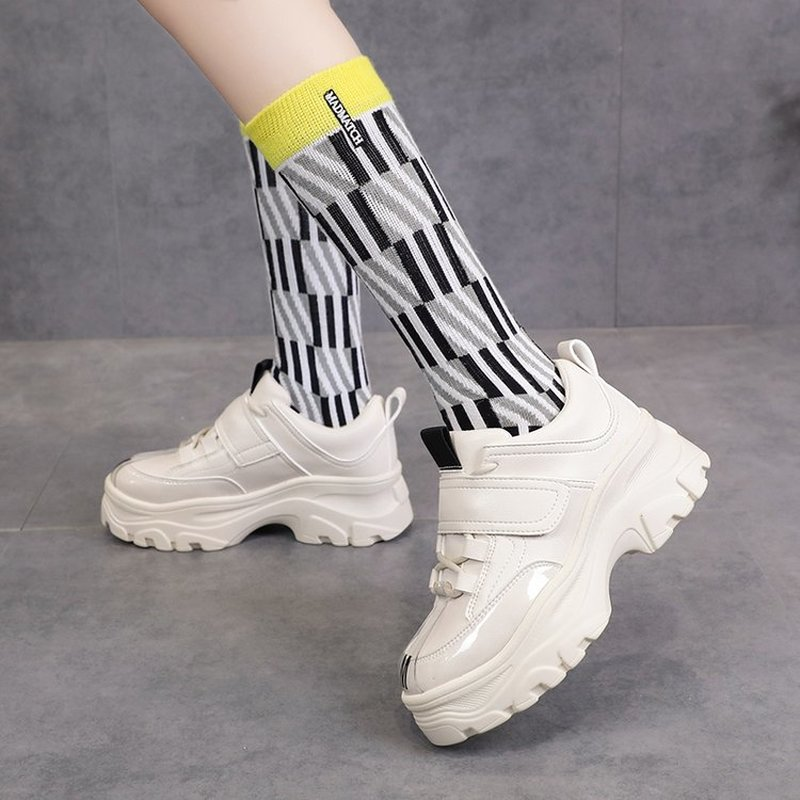 2019 Women Sneakers Fashion Casual Shoes Woman Comfortable Breathable Mesh Flats Female Platform Sneakers tenis feminino K5-14(China)