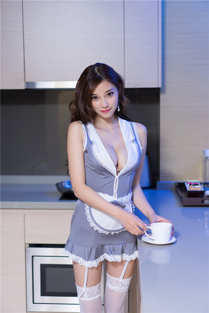 2019 Sexy Lingerie Cosplay High Quality Apron Maid Sexy Costume Babydoll Dress Uniform Women Lace Miniskirt Outfit 6
