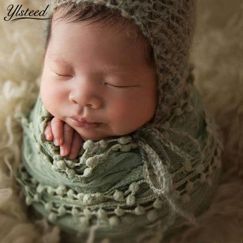 Baby Photography Props Blanket Newborn Photo Shoot Outfits Infant Photos Lace Wrap
