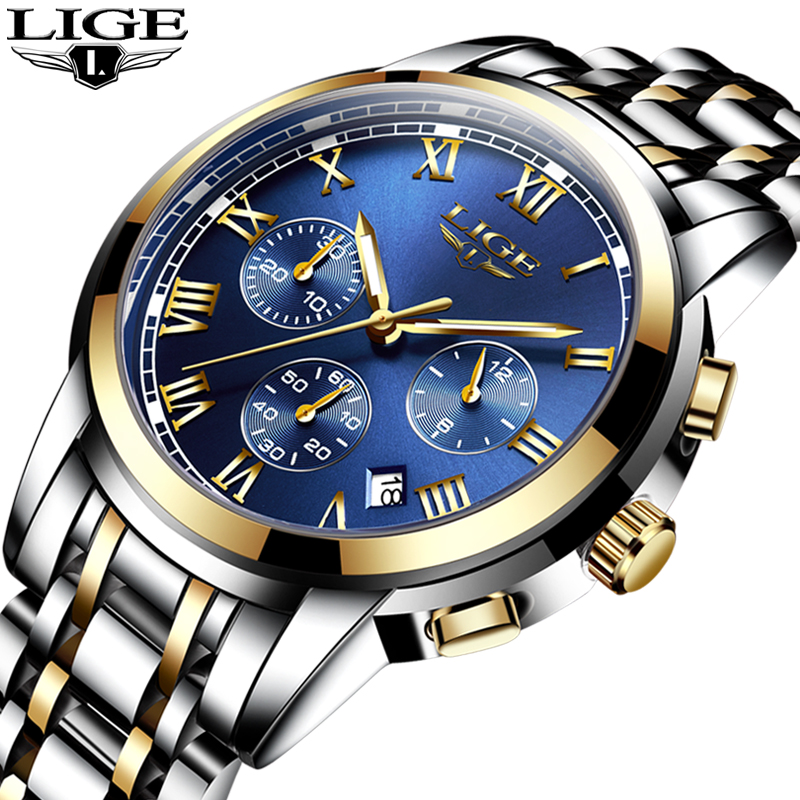 LIGE Mens Watch Top Brand Luxury Male Military Sport Luminous Watchs men Business quartz watch Male wristwatch Relogio Masculino watch men ochstin top luxury brand designer military quartz watch silicone business black sport quartz watch male wristwatch