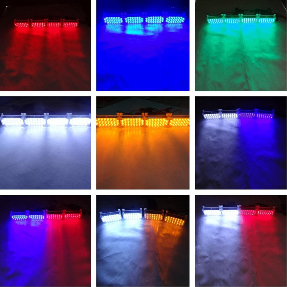 Prix pour 4X22 LED Stroboscopique D'urgence Avertissement Clignotant De Voiture Camion Lumières Lumières Stroboscopiques 12 V Rouge Bleu Ambre Blanc vert 88LED