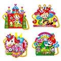 Colorful Assembly Toy Handbag EVA Cartoon DIY Hand-sewn Diamond Shoulder Bag Educational Handcraft Toy for Girls Random Pattern