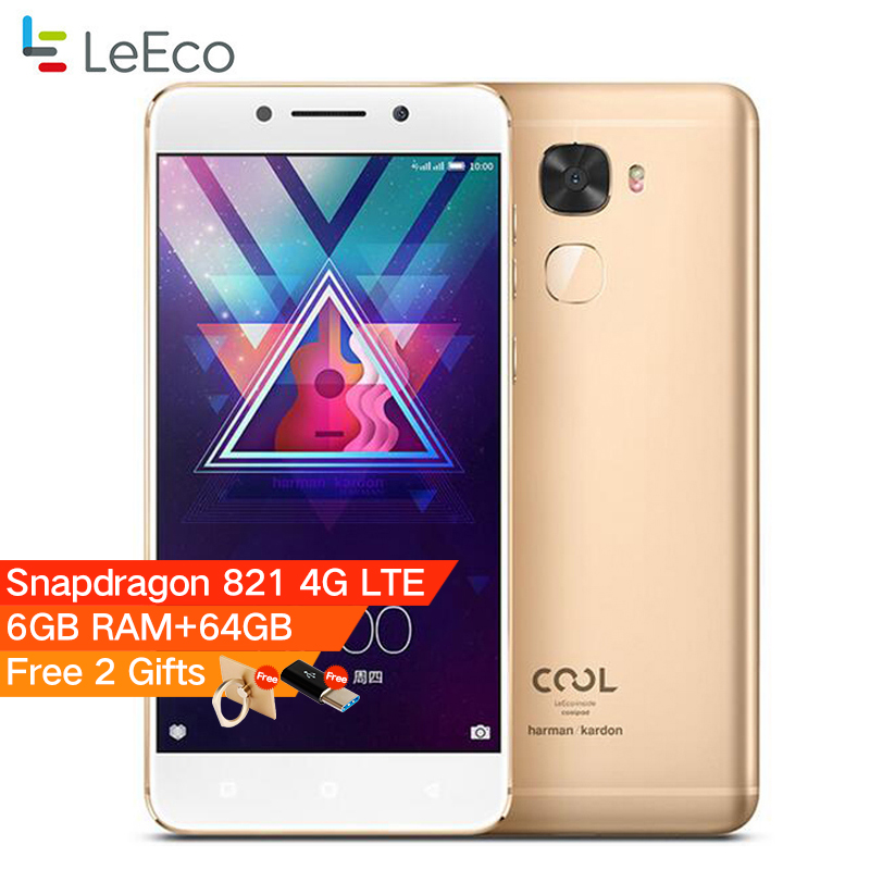Coolpad/Letv Kühlen Wechsler S1 Leeco Kühlen S1 5,5 ''Snapdragon 821 6 GB RAM 64 GB ROM Fingerprint ID 4070 mAh 4G LTE Mobilen telefon