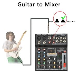 Image 5 - AM G05 Bluetooth USB Record PC Playback Record 4 Channels Guitar Input 2 Mono 1 Stereo Professional USB Audio Mixer