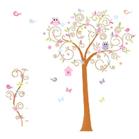 1 Set Hot Sale Flower Tree Wall Decal Colorful Wall Decals Home Decorations DIY Pvc Removable