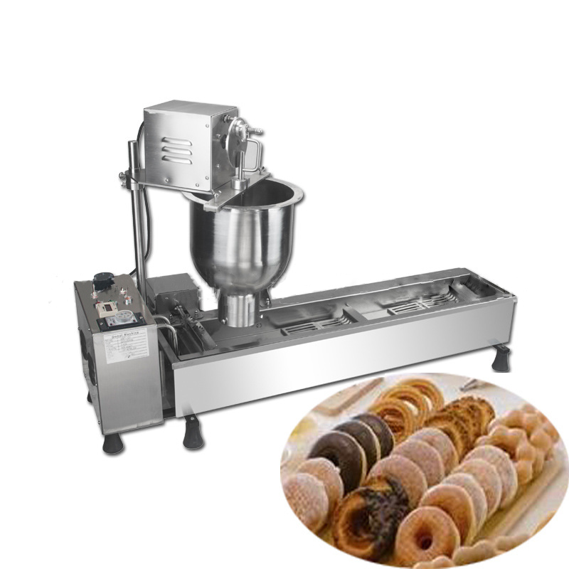 Fully-automatic Doughut makers donut maker machine;Donut fryer machine;donut making machine stainless steel 1pc stainless steel commercial automatic donut making machine for sale mini automatic donut machine for sale donut dropper