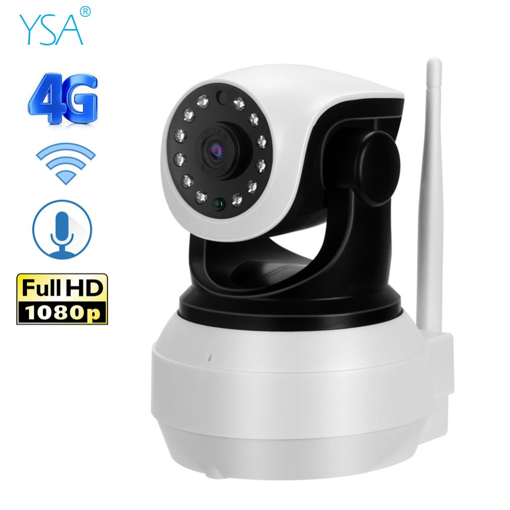 Caméra IP Mobile sans fil 3G 4G GSM | Carte SIM, caméra WIFI PTZ 1080P, vidéosurveillance à domicile, vidéo de sécurité P2P, détection de mouvements IR