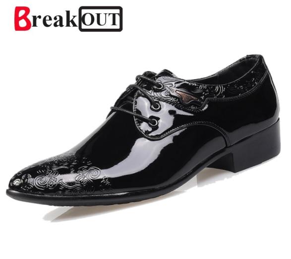 Break Out Brand High Quality Leather Shoes Men,Wedding Shoe,Men Dress Shoes,2018 British Style Fashion Men Oxford Free Shipping