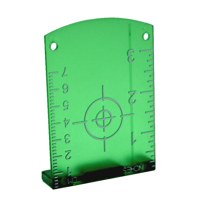 No burr convenient Magnetic laser target board or plate for red laser lines or green laser lines