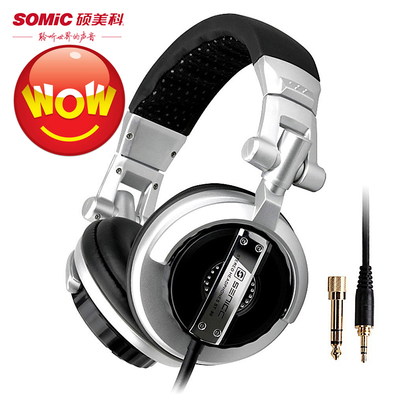 Brand new Somic st-80 Foldable stereo headphone computer professional dj subwoofer monitor headset Bass HiFi music earphones image
