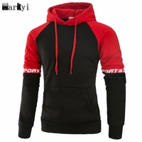 MarKyi Good Quality Pullover Hoodies Men Casual Sportswear 2017 Spring Long Sleeve Hoodies Men Sweatshirt EU