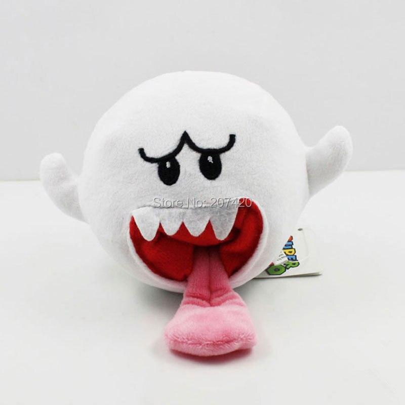 ᐅ10 cm Super Mario Bros Boo Ghost con tanooki tail peluche suave ...
