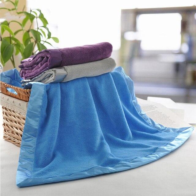 Благородство простой толстые коралловые ковер оптовая высокого качества твердые детские одеяла ватки коралла коляска крышка новорожденный пеленание