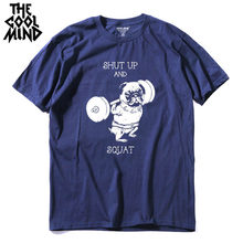 COOLMIND PU0117A 100% cotton casual o-neck knitted go home or hard pug printed men T-shirt short sleeve summer Tshirt tee