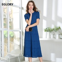 Two Piece Set Sweater Skirt Suit 2018 Autumn Winter Lady Tops Pullovers+Mid Calf Length Blue Pink Knitting Skirt Women's Set