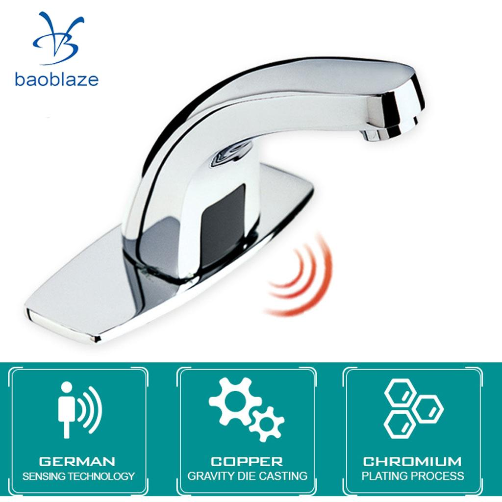 13 cm Alliage Automatique Infrarouge Capteur D'eau Du Robinet Mains Libres Cuisine Salle De Bain Évier Bassin Robinet pour L'eau Froide