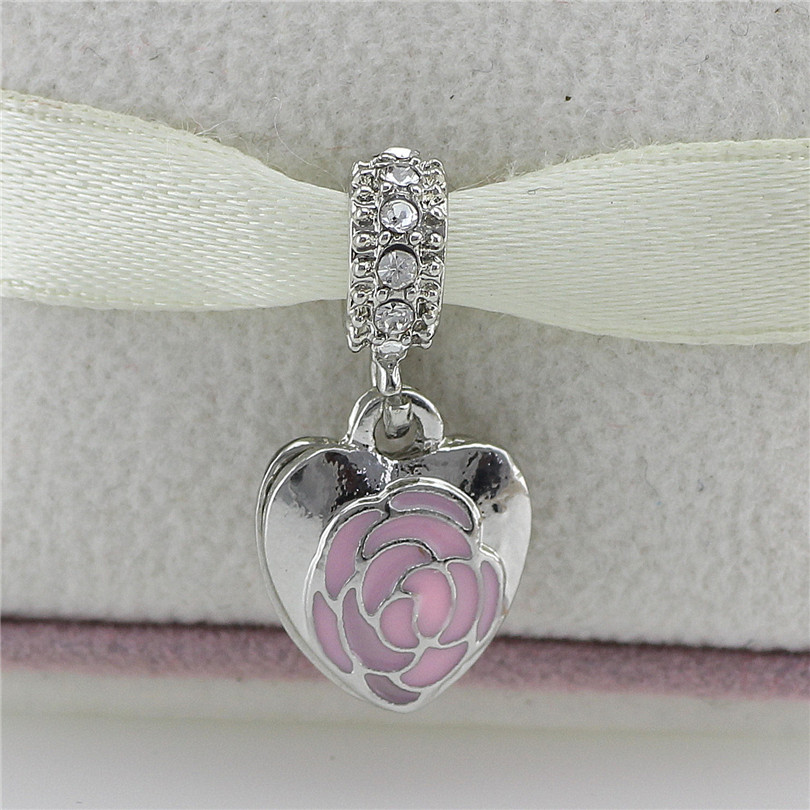 Starry sky Family Charms Crystal Tree of Life Beads Drip pink rose Fit Pandora Bracelet Pendant heart horse Fashion Jewelry