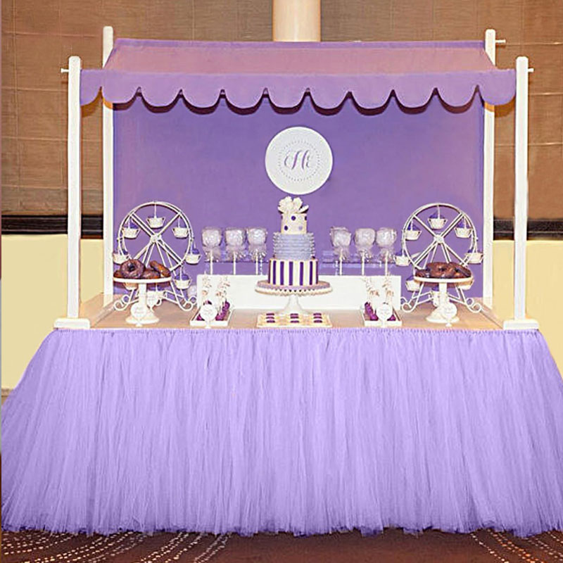Customized Tulle Tutu Table Skirt For Decorations Wedding And Banquet Birthday Party Decor 100cm80cm In Skirts From Home Garden On