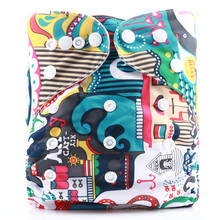 [simfamily]1PC Reusable One Size PocketCloth Diaper Waterproof Suede Cloth Inner Baby Nappy Adjustable Baby Nappies Wholesales