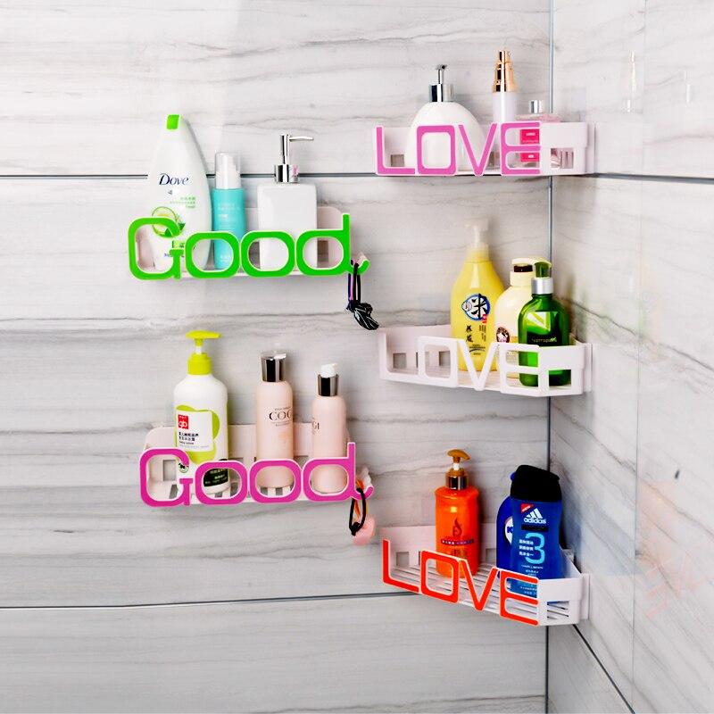 Hot letter design wall-mounted bathroom shelf decorative Corner ...