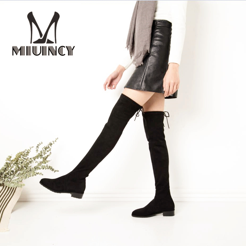 2017 Hot Faux Suede Slim Boots Women Thigh High Boots Sexy Over The Knee Motorcycle Boots Fashion Winter Snow Boots Shoes Woman белый город москва город чудный город древний чудеса архитектуры