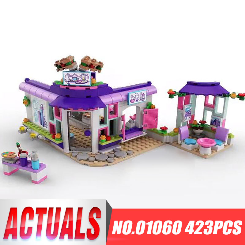Lepin 01060 New Year Toys 423Pcs Girls Series LegoINGly 41336 Art Cafe Model Sets Building Blocks Bricks Funny Toys Kids Gifts lepin 42010 590pcs creative series brick box legoingly sets building nano blocks diy bricks educational toys for kids gift