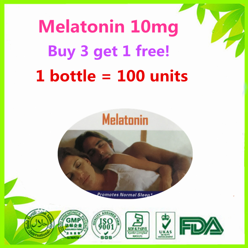 (Buy 3 Get 1 Free) Melatonin 10 mg Night Time Sleep Aid 100 units