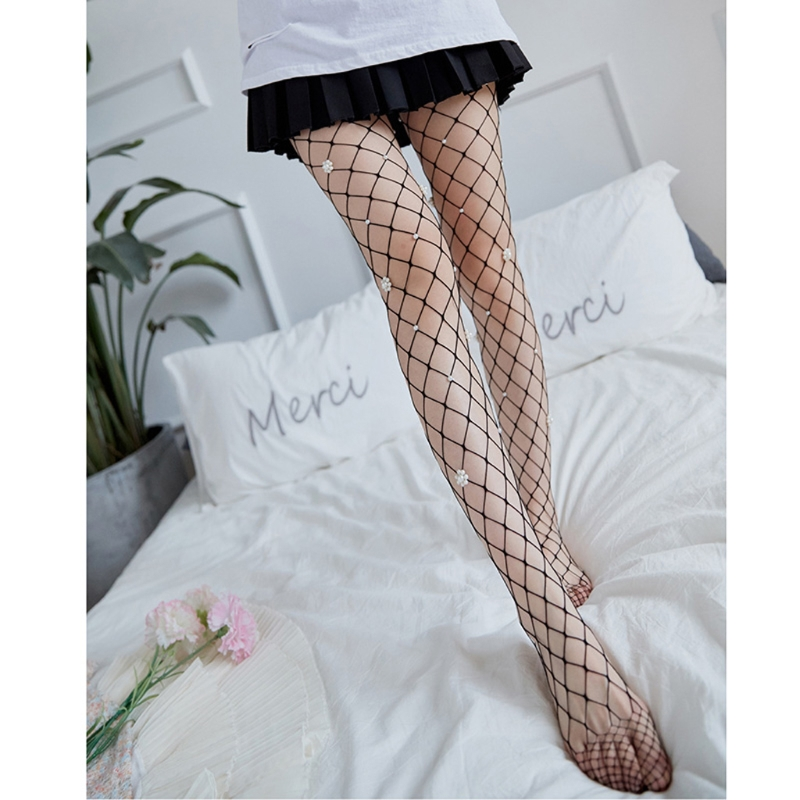 1PC Sexy Fishnet Pantyhose Seamless Sheer Mesh Hollow Out Tight Stockings